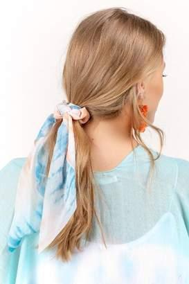 francesca's Mia Tie-Dye Pony Scarf - Blue