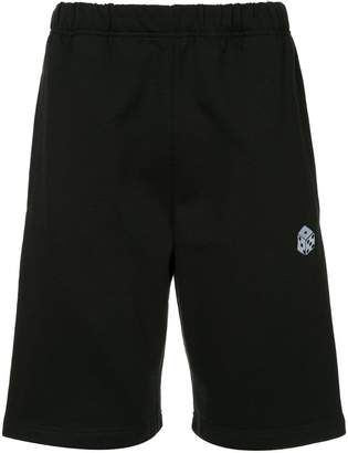 MSGM dice embroidered track shorts