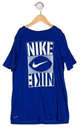 Nike Boys' Printed Short Sleeve Shirt