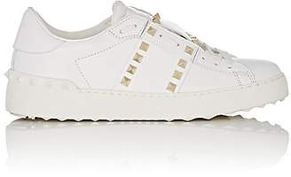 Valentino Women's Open Rockstud Leather Sneakers - White
