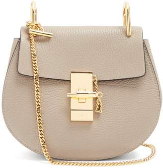 Chloé Drew Mini Leather Cross Body Bag - Womens - Grey