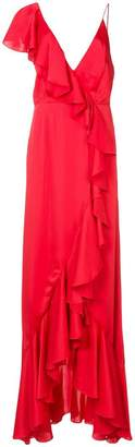 Jill Stuart asymmetric ruffle gown