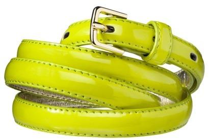 Merona Skinny Belt - Lime Green
