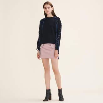 Maje Fleecy sweatshirt with lacing