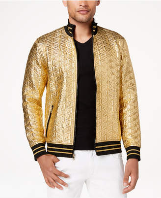 INC International Concepts I.n.c. Men's Textured Gold Jacket, Created for Macy's