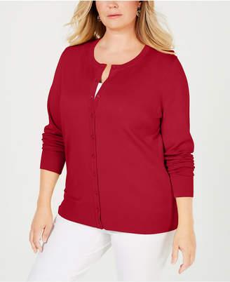 Charter Club Plus Size Cardigan Sweater