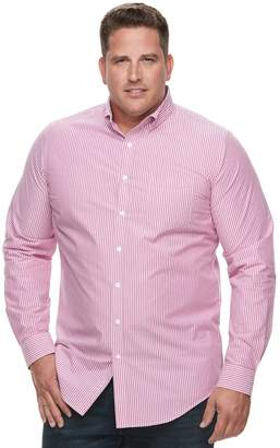 Croft & Barrow Big & Tall Regular-Fit Plaid Button-Down Shirt