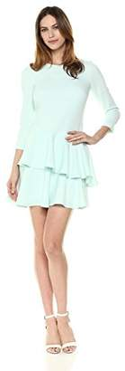 Eliza J Women's 3/4 Sleeve Dress with Tiered Ruffle Skirt