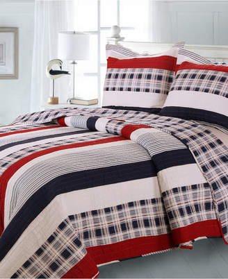 Greenland Home Fashions Nautical Stripe Quilt Set, 2-Piece Twin