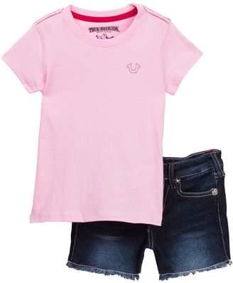 True Religion Buddah Shirt & Shorts Set (Toddler Girls)