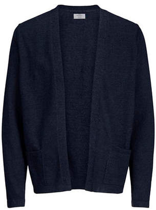 Jack and Jones Knit Open-Front Cotton Cardigan