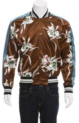 Valentino Souvenir Floral Bomber Jacket