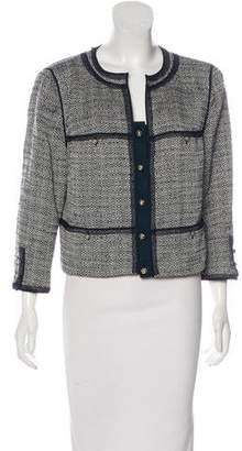 Magaschoni Tweed Button-Up Jacket w/ Tags