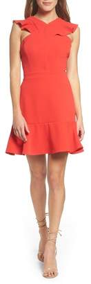 Chelsea28 Cross Front Ruffle Dress