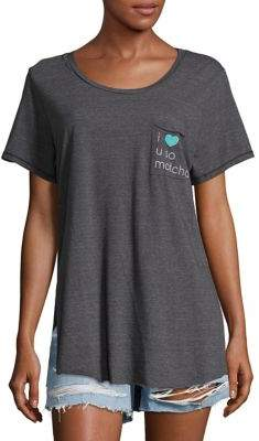 Junk Food Clothing Text Graphic Pocket Tee