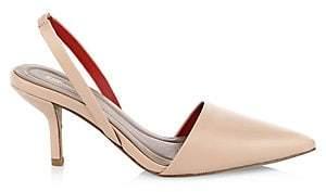 Diane von Furstenberg Women's Mortelle Leather Slingback Heels