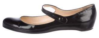Christian Louboutin Leather Round-Toe Flats