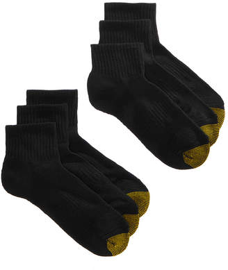 Gold Toe Women's 6-Pk. Sport Half-Cushion Quarter Socks