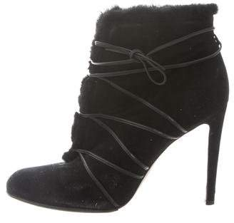 Gianvito Rossi Round-Toe Lace-Tie Ankle Boots