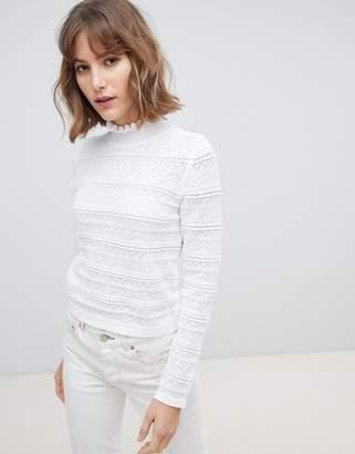 Asos Design DESIGN textured pointelle sweater