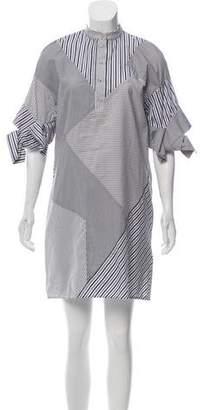 Victoria Beckham Victoria Striped Mini Shirt Dress