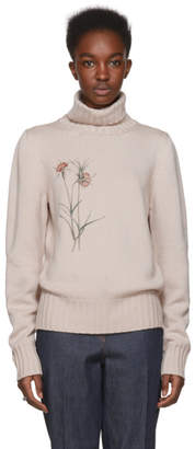 Bottega Veneta Taupe Flower Turtleneck