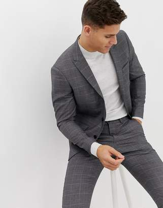 Lindbergh suit jacket in grey check