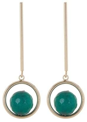 Halogen Linear Semiprecious Stone Drop Earrings