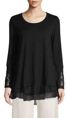 Style&Co. Style & Co. Ribbed Lace Tunic
