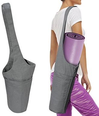 Strong Camel Yoga Mat Bag Premium Cotton Tote Sling Carrier w Side Pocket and Zipper Pocket