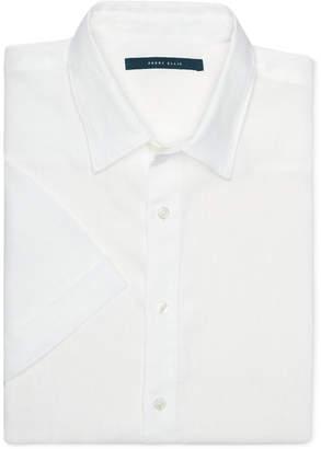 Perry Ellis Men Chambray Linen Short-Sleeve Button-Front Shirt
