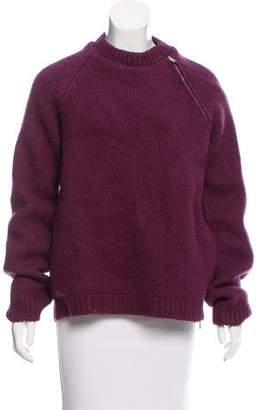 Maison Margiela Mock Neck Wool Coat