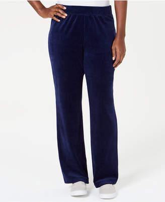 Karen Scott Petite Velour Pull-On Pants