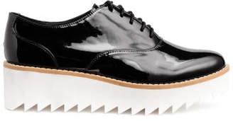 H&M Patent platform shoes - Black