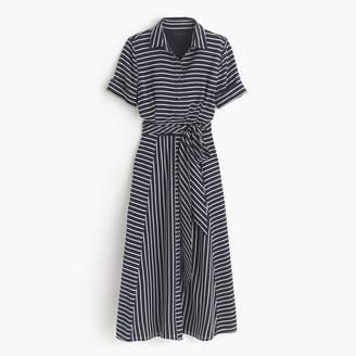 J.Crew Collection silk shirtdress in stripe