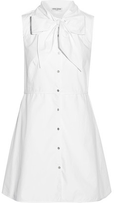 Opening Ceremony - Pussy-bow Cotton-poplin Shirt Dress - White $350 thestylecure.com