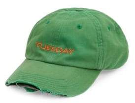 Vetements Tuesday Embroidered Weekday Baseball Cap