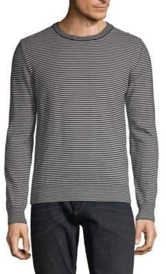 Maison Margiela Elbow Patch Striped Top