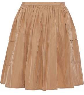 RED Valentino Flared Gathered Shell Mini Skirt