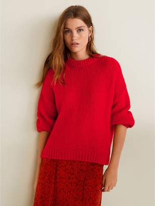 MANGO High Neck Jumper - Red