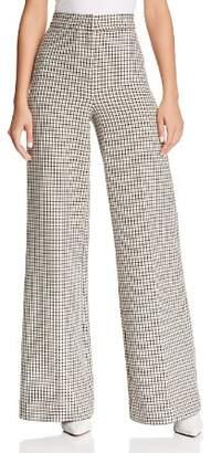 Joie Jeslyn Plaid Wide-Leg Pants