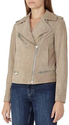 REISS Daye Suede Moto Jacket $660 thestylecure.com