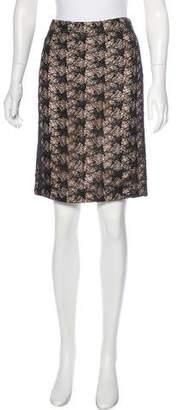 TSE Textured Knee-Length Skirt