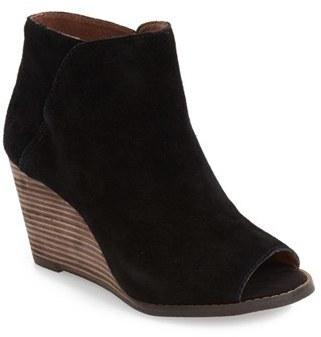 Lucky Brand 'Jezzah' Open Toe Bootie (Women) $128.95 thestylecure.com