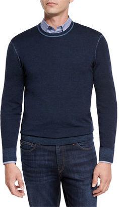 Michael Kors Washed Merino Crewneck Sweater $178 thestylecure.com