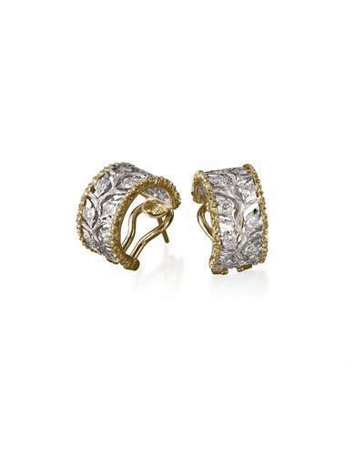 BuccellatiBuccellati Ramage Diamond Huggie Earrings