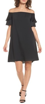 Women's Love, Fire Ruffle Off The Shoulder Dress $52 thestylecure.com
