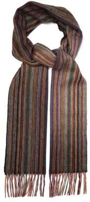 Paul Smith Signature Stripe Cashmere Scarf - Mens - Multi
