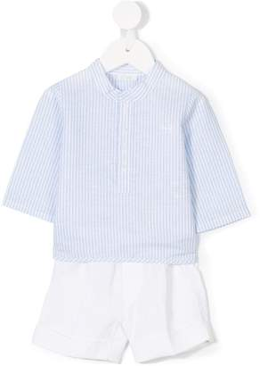 Il Gufo striped shirt and shorts set