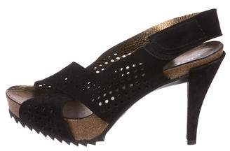 Pedro Garcia Perforated Platform Sandals